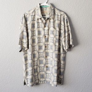 Tommy Bahama silk copyrighted print button down